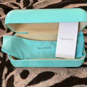 Tiffany & co sunglasses case and cleaning cloth.